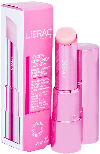 Лиерак гидрохроно+ бальзам для губ розовый с блеском 3г, фото №1