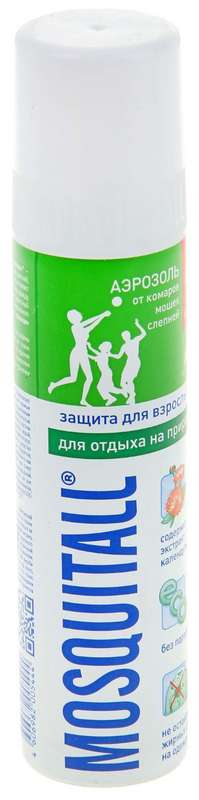 Москитол защита для взрослых аэрозоль от комаров 100мл, фото №1