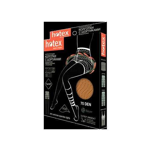 Хотекс колготки корректирующие с шортиками 70den черные, фото №1