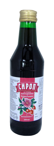 Шиповник сироп с боярышником и витамином с 250мл, фото №1