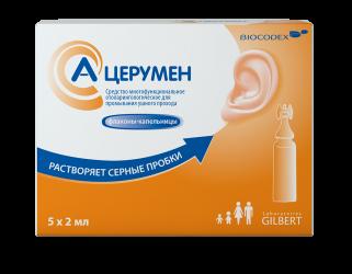 А-церумен средство д/промывания ушного прохода 2мл n5 фл.-капельница