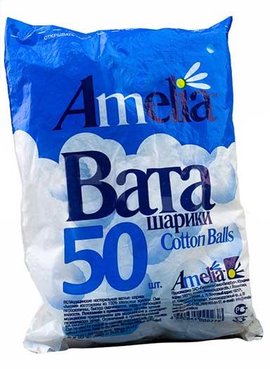 Амелия ватные шарики 50 шт., фото №1