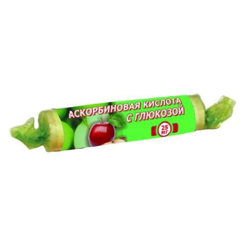 Аскорбиновая кислота с глюкозой гленвитол таблетки 25мг яблоко 10 шт., фото №1
