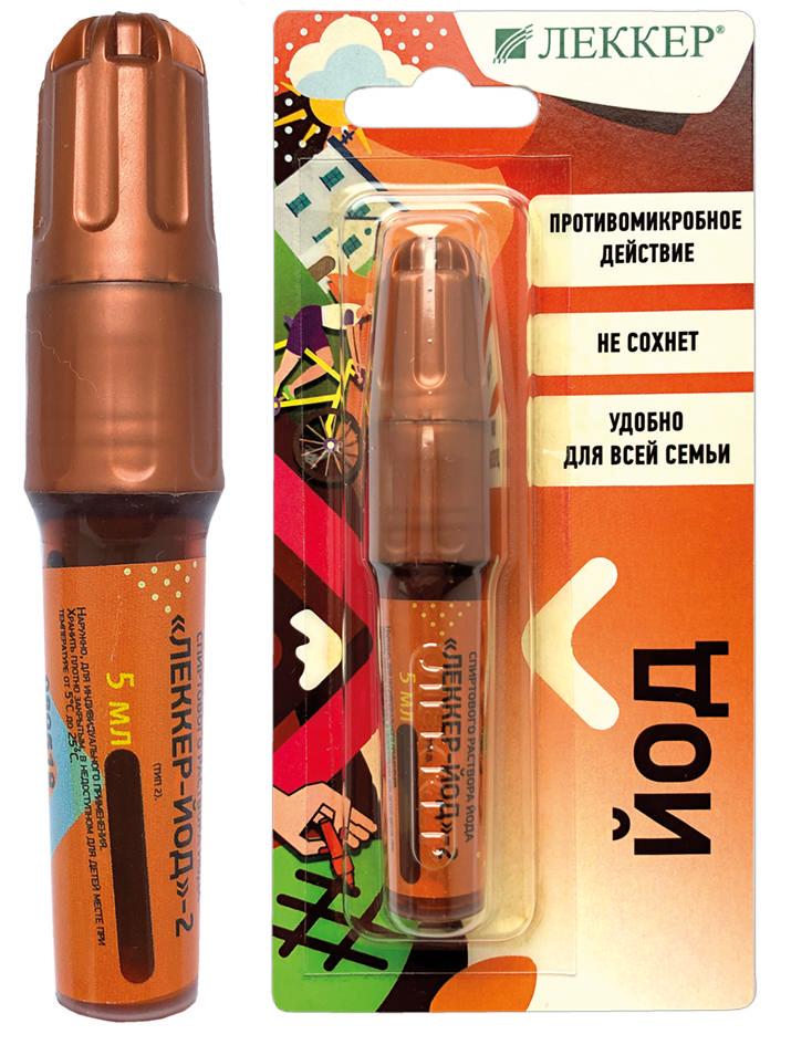 ЛЕККЕР-ЙОД-2 раствор спиртовой Йода (тип 2) 5мл