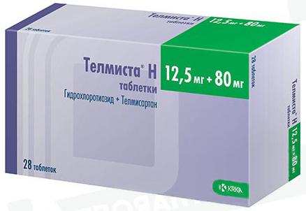 Телмиста н 12,5мг+80мг 28 шт. таблетки, фото №1