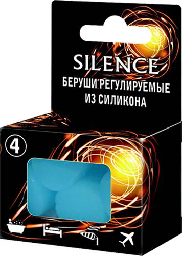 Сайленс беруши регулируемые из силикона 4 шт., фото №1