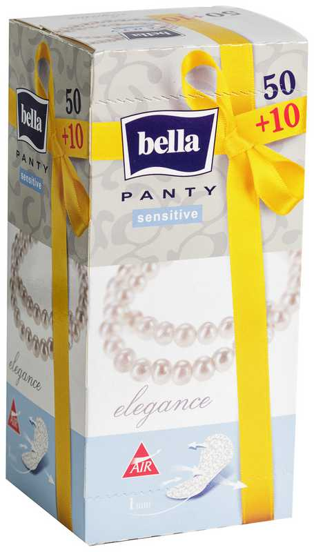 Белла панти прокладки ежедневные сенситив элеганс n50+10, фото №1