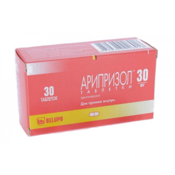 Арипризол таблетки 30 мг 30 шт.;