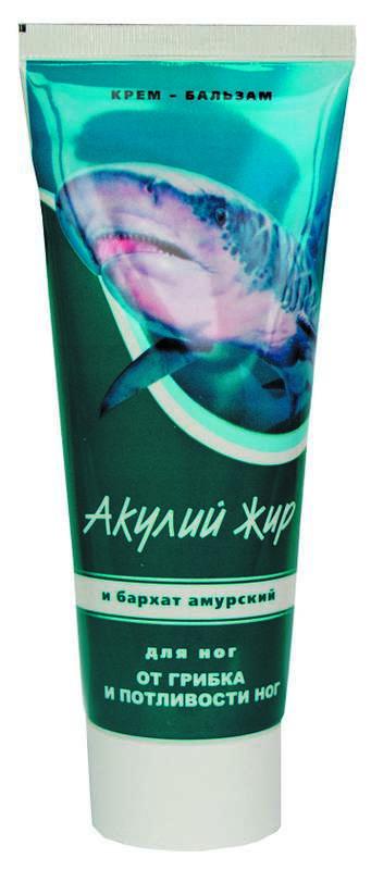 Акулий жир крем-бальзам для ног амурский бархат 75мл, фото №1