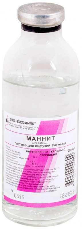 МАННИТ 150мг/мл 200мл 28 шт. раствор для инфузий