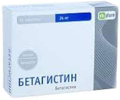 Бетагистин 24мг 30 шт. таблетки, фото №1
