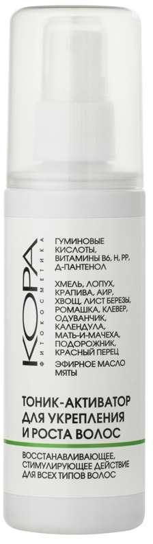 Кора тоник-активатор с коллагеном для укрепления и роста волос 100мл, фото №1