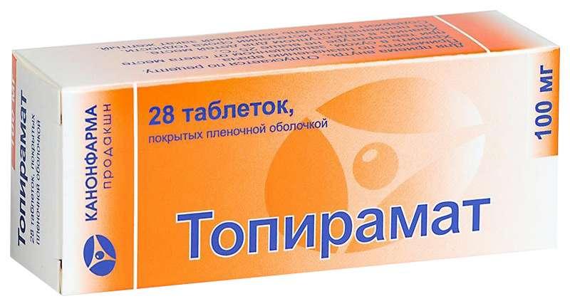 ТОПИРАМАТ КАНОН таблетки 100 мг 28 шт.