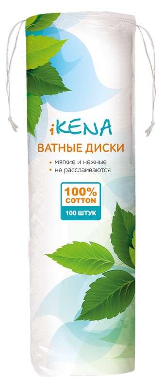 Икена ватные диски косметические 100 шт., фото №1