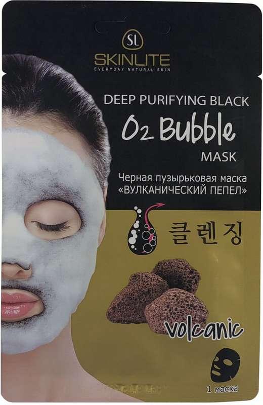 Скинлайт маска для лица черная пузырьковая вулканический пепел 20г, фото №1