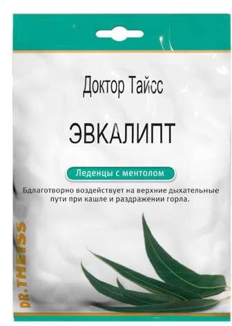 Тайсс леденцы эвкалипт, ментол 50г, фото №1