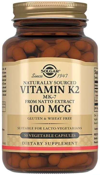 Солгар витамин к2 капсулы натуральный 100мкг 50 шт., фото №1