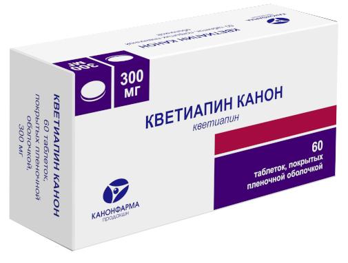КВЕТИАПИН КАНОН таблетки 300 мг 60 шт.