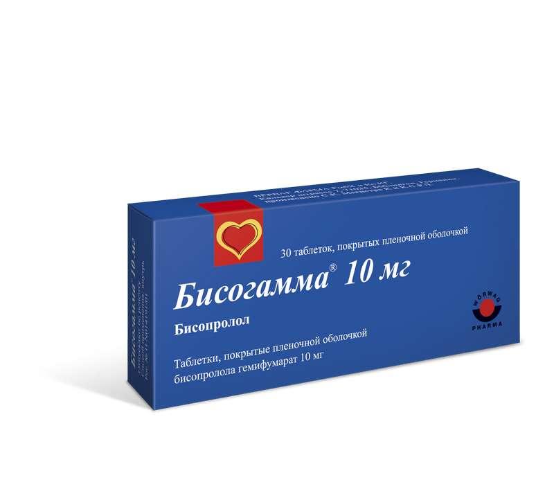 БИСОГАММА таблетки 10 мг 30 шт.