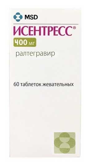 Исентресс 400мг 60 шт. таблетки покрытые пленочной оболочкой мерк шарп и доум б.в., фото №1