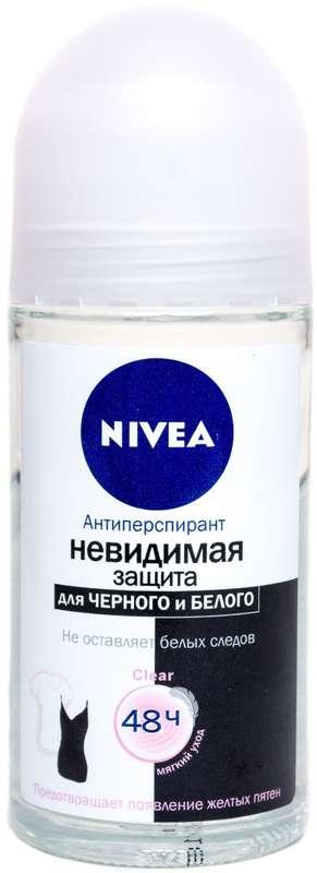 Нивея дезодорант-антиперспирант ролик невидимая защита клиа (82240) 50мл, фото №1