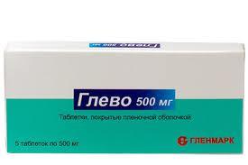 Глево 500мг 5 шт. таблетки покрытые пленочной оболочкой, фото №1
