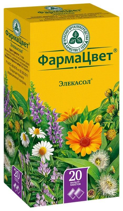 Элекасол сбор 2г 20 шт. фильтр-пакет, фото №1