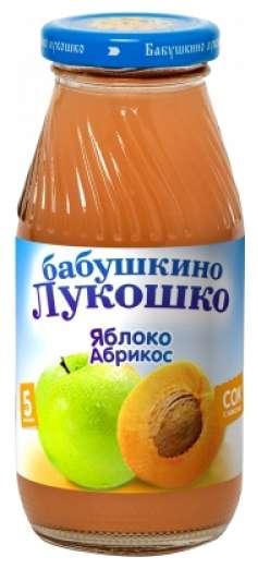 Бабушкино лукошко сок яблоко/абрикос 5+ с мякотью 200мл, фото №1