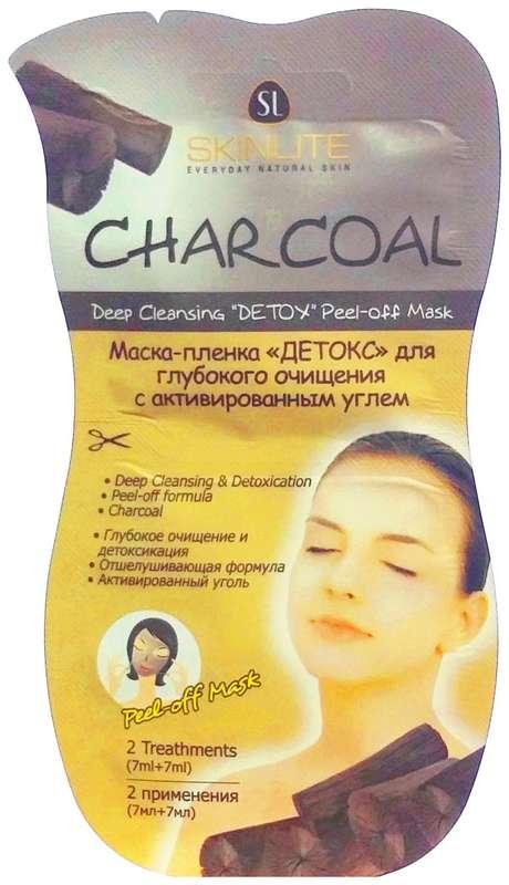 Скинлайт маска-пленка детокс для глубокого очищения с активированным углем 7мл 2 шт., фото №1