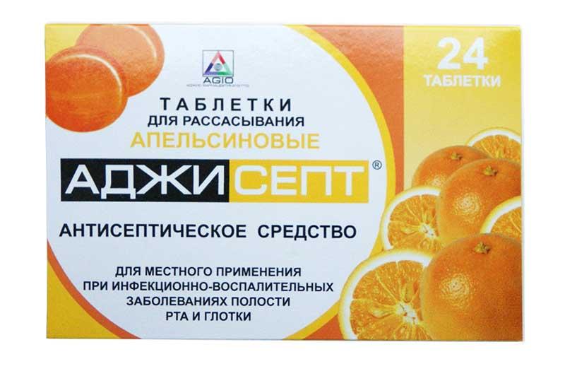 АДЖИСЕПТ таблетки для рассасывания 24 шт.