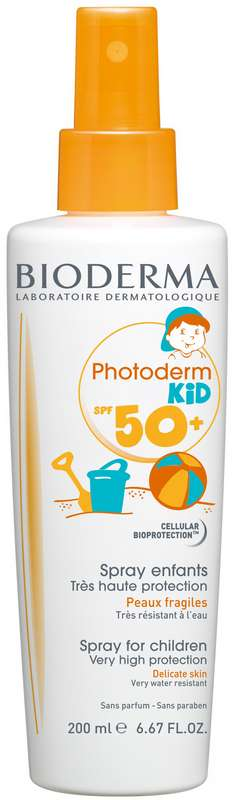 Биодерма фотодерм кид спрей очень высокая защита spf50+ 200мл, фото №1