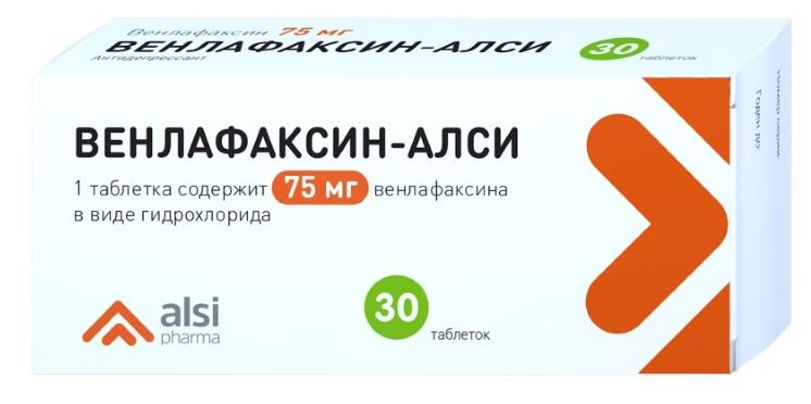 ВЕНЛАФАКСИН-АЛСИ таблетки 75 мг 30 шт.