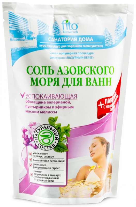 Санаторий дома соль для ванн успокаивающая азовского моря 530г, фото №1