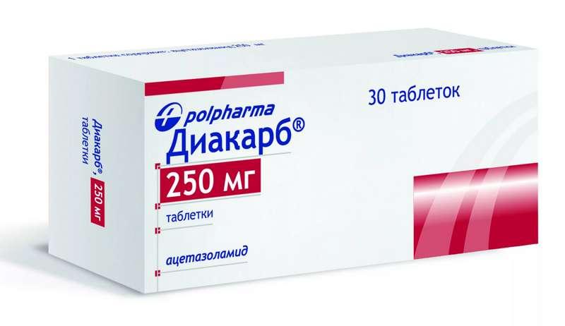 ДИАКАРБ таблетки 250 мг 30 шт.