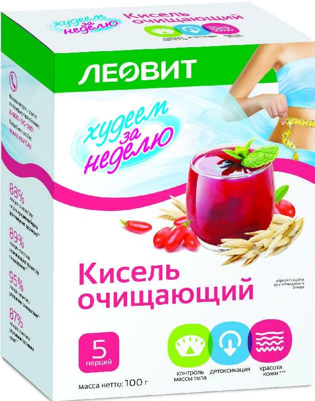 ЛЕОВИТ БИОСЛИМИКА кисель диетический Очищающий 20г 5 шт.