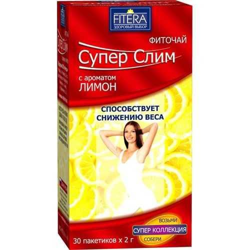 Супер слим чай лимон 30 шт. фильтр-пакет, фото №1