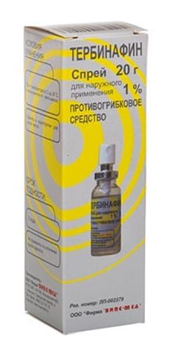 Тербинафин 1% 20г спрей, фото №1