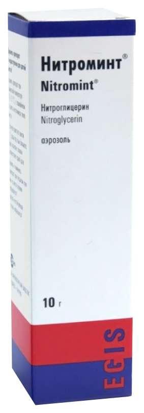 Нитроминт 0,4мг/доза 10г спрей подъязычный дозированный, фото №1
