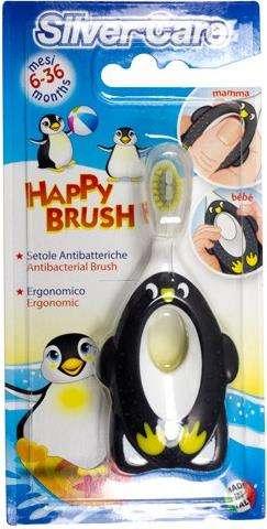 Президент сильвер кэа зубная щетка для детей хэппи браш с ручкой-кусалкой 6-36 месяцев мягкая арт.654, фото №1