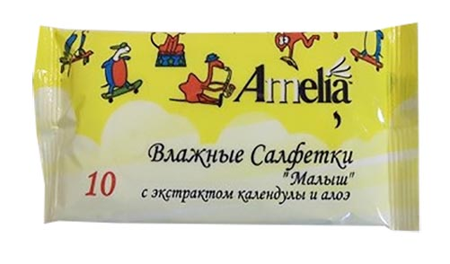 Амелия салфетки влажные детские малыш 60 шт., фото №1