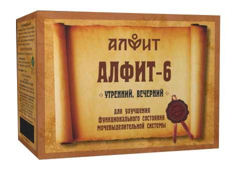 Алфит 6 почечный фитосбор утренний/вечерний 2г 60 шт., фото №1