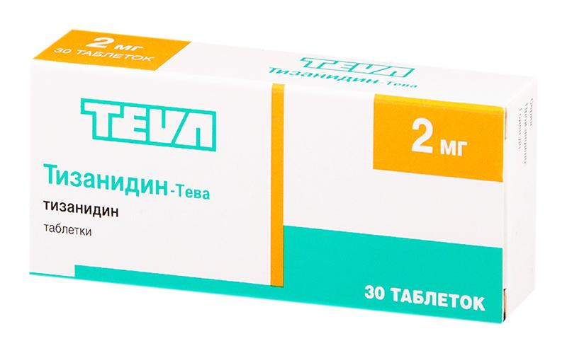ТИЗАНИДИН-ТЕВА таблетки 2 мг 30 шт.