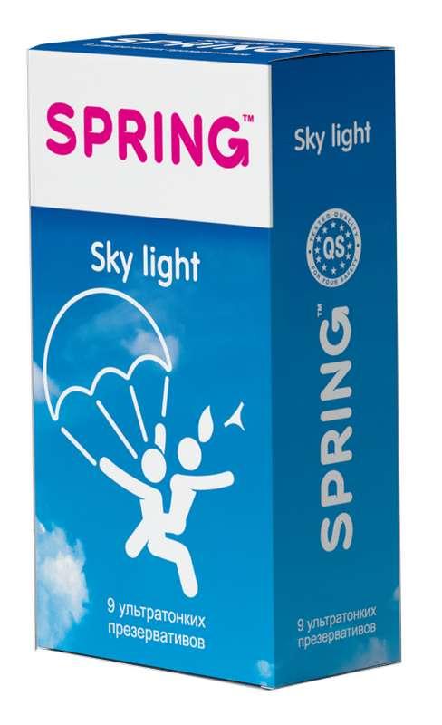 Спринг скай лайт презервативы ультратонкие 9 шт., фото №1