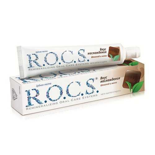Рокс зубная паста шоколад и мята вкусное наслаждение 74г, фото №1
