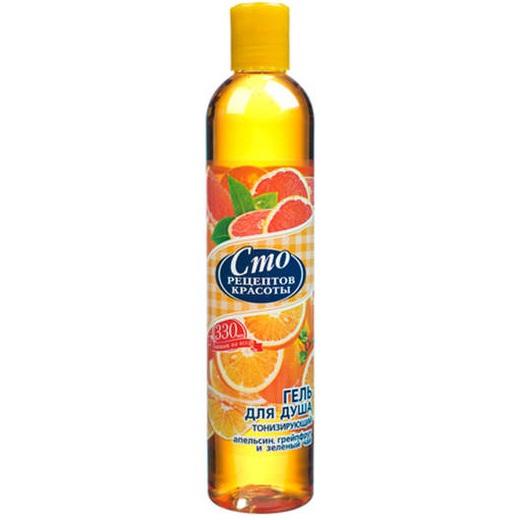Сто рецептов красоты крем-гель для душа тонизирующий манго/персик/апельсин 250мл, фото №1
