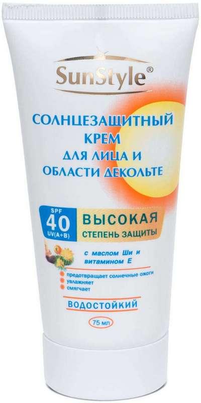 Сан стайл крем солнцезащитный для лица/декольте spf40 75мл, фото №1