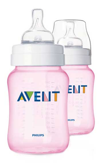 Авент классик бутылочка для кормления 81450 (scf684/27) розовая 260мл 2 шт., фото №1