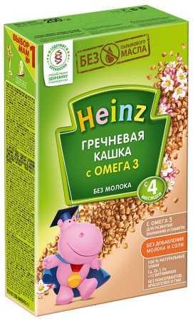 Хайнц каша гречневая безмолочная с омега-3 4+ 200г, фото №1