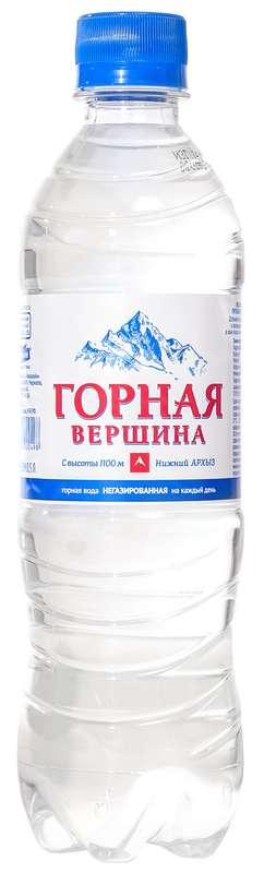Вода горная вершина н/газир.0,5л, фото №1