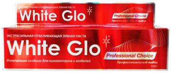 ВАЙТ ГЛО зубная паста отбеливающая профессиональный выбор 100мл